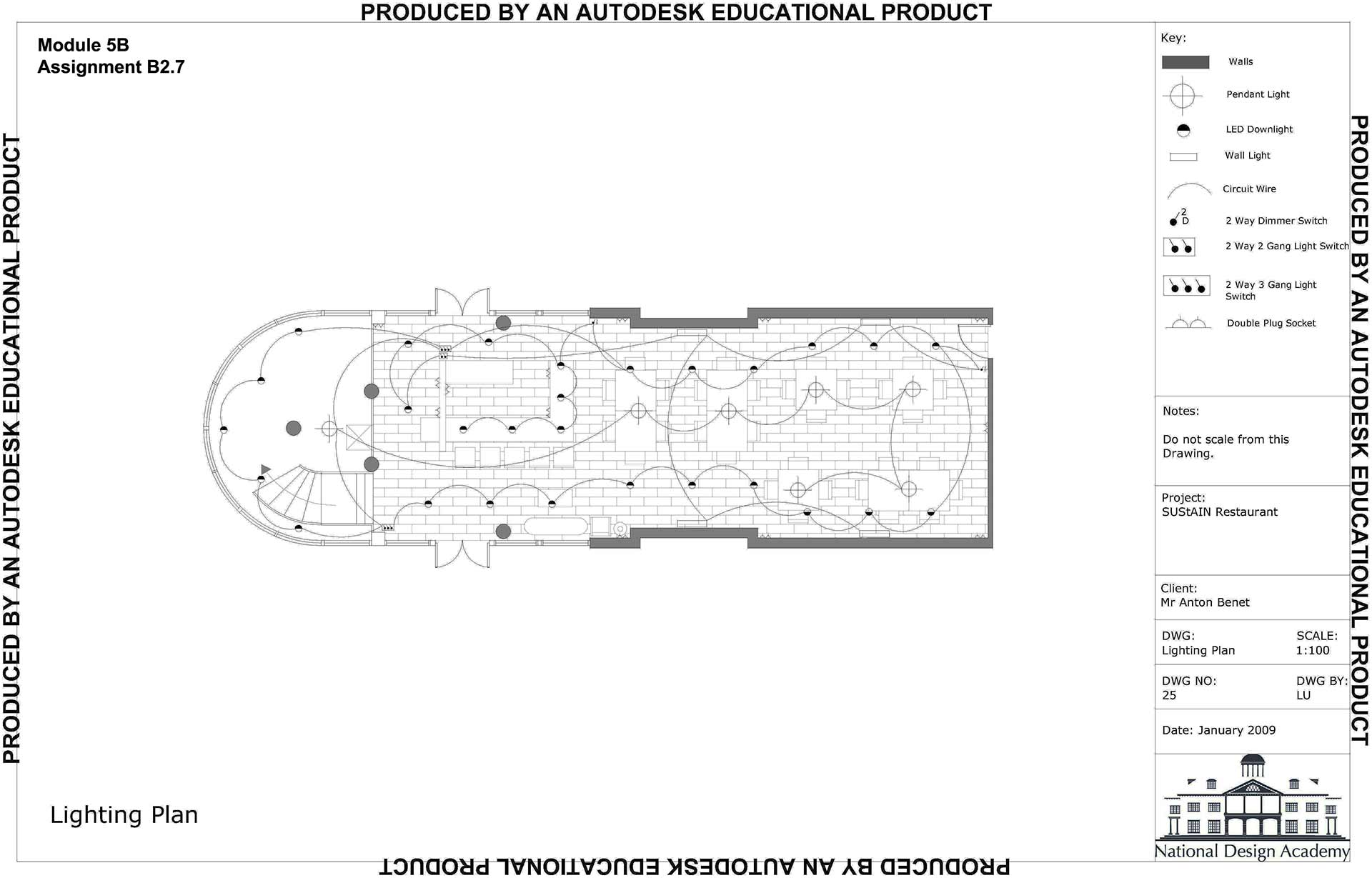 Ba Hons Interior Design Technical Drawing Wiring Diagram For Downlights National Academy 17