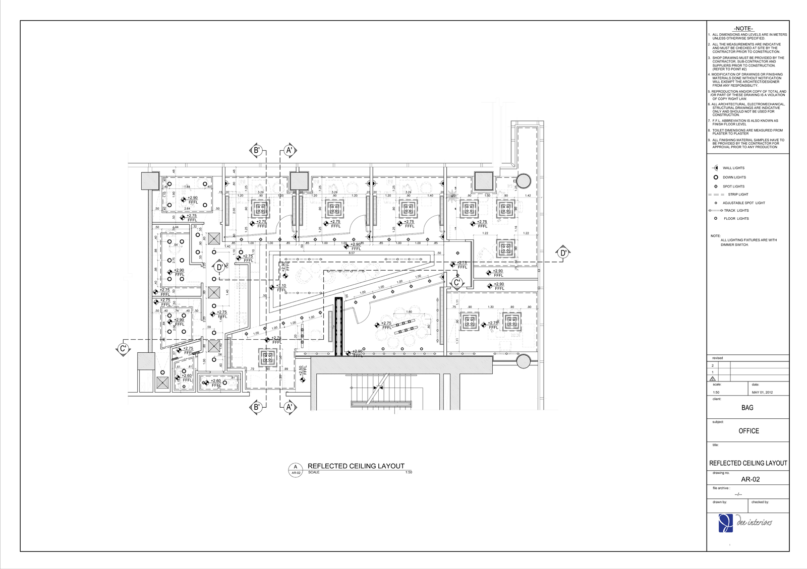 Ma Interior Design Technical Drawing