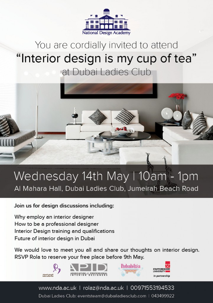 Interior Design Is My Cup Of Tea In Dubai National Design Academy