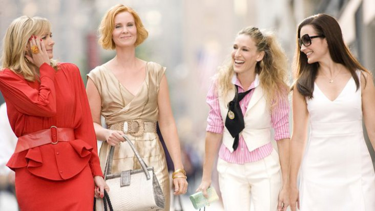 SATC Sex and the City Set Design Interior Design Ideas. The four best friends Carrie, Samantha, Miranda and Charlotte