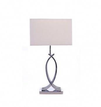 Homes Direct 365 Chrome Lamp Base & Shade