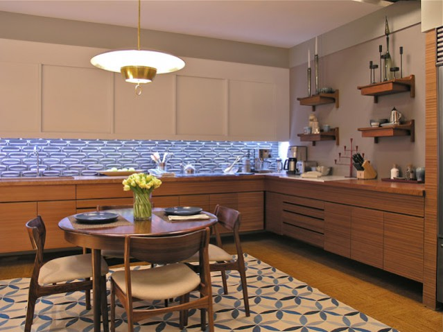 Carrie & Big's apartment kitchen in the sex and the city 2 movie. Set design inspired interior ideas.