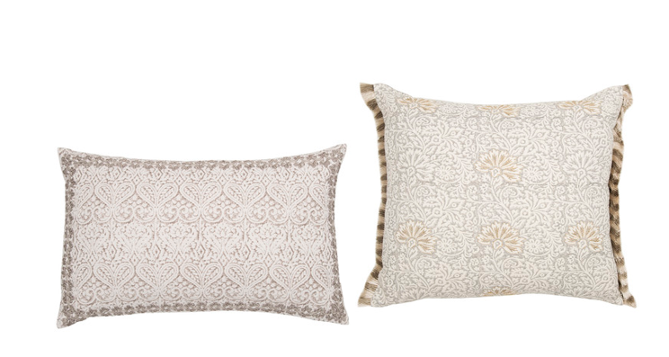 Sex and the City Set Design Interior Design Ideas: splurge on are the GP & J Baker Flora Cushion & GP & J Baker Polperro Cushion (£87.00 and £80.00 both available at Amara.)