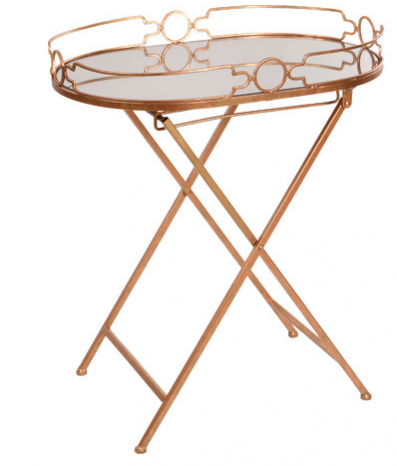 Sex and the City 2 inspired Interior design trends: modern, Moroccan style Cora mirrored tray table by Joss & Main.