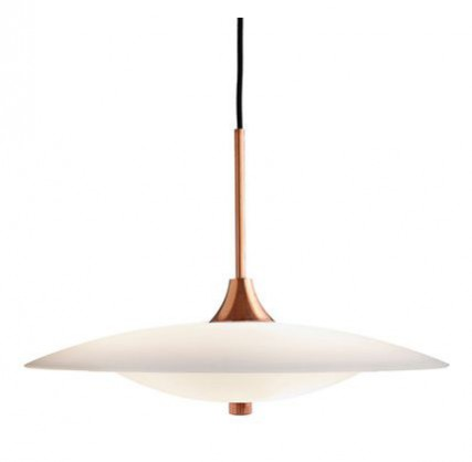 Joss & Main's Baroni Pendant in Copper. Statement lighting inspired by Sex and the City 2 Set designs.