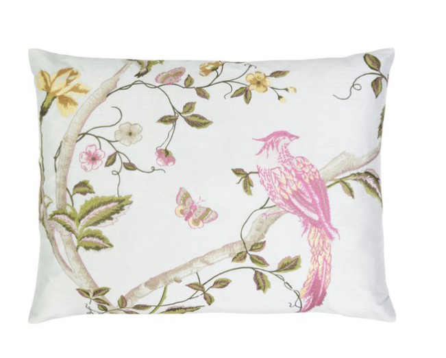 Sex and the City 2 Set Design inspired interior design ideas. Laura Ashley Summer Palace duck egg cushion.