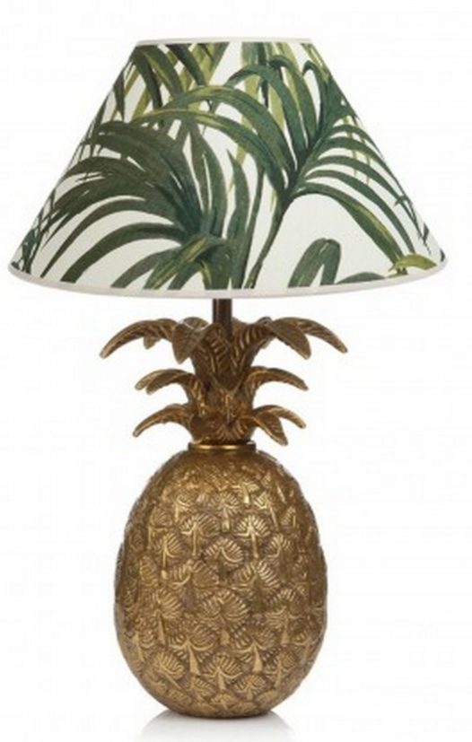 house of hackney pineapple lamp. How to incorporate the tropical trend.