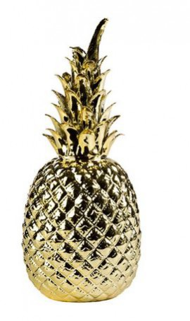 pineapple storage pot/ ornament. How to incorporate the tropical trend into your interior.