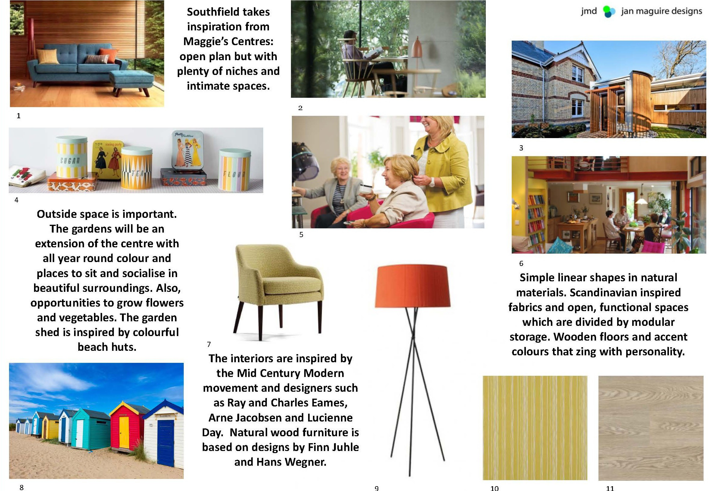 Marvelous BA Hons Interior Design Degree Student Case Study Jan Maguire: Southfield  Concept Board