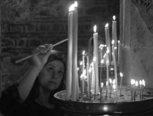This month's Christmas inspired theme of the month explores the themes of candlelight: Candle lighting in the Visoki Dečani monastery.