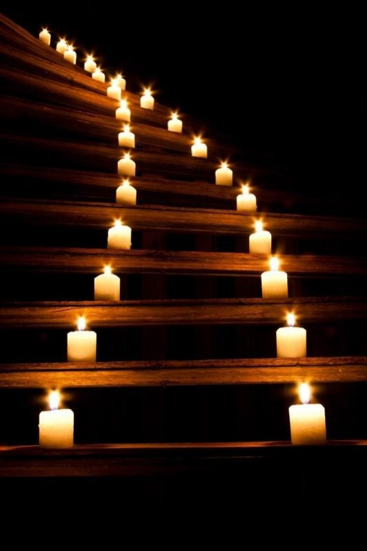 This month's Christmas inspired theme of the month explores the themes of candlelight: image via: www.indulgy.com