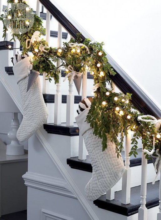 A touch of Christmas: Well placed accessories can transform your usual décor. Image via: http://www.styleathome.com/homes/interiors/interior-scandinavian-style-holiday-home/a/53869?utm_content=buffera9433&utm_medium=social&utm_source=pinterest.com&utm_campaign=buffer