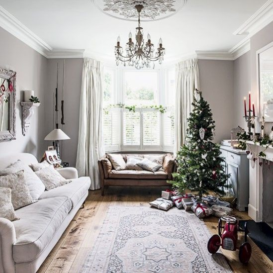 Christmas Interior inspiration: Winter Whites inspiration image found on housetohome.co.uk