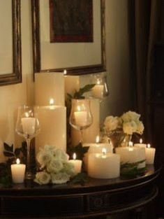 This month's Christmas inspired theme of the month explores the themes of candlelight: image via: www.diyncrafts.com