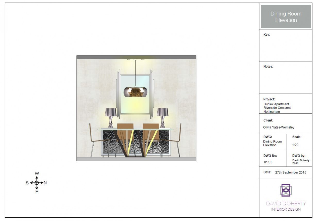 This month David has been awarded for for his Furniture and Furnishings Project for the final module of his Foundation Degree (FdA) in Interior Design: Tech drawing 2 Elevation (2)
