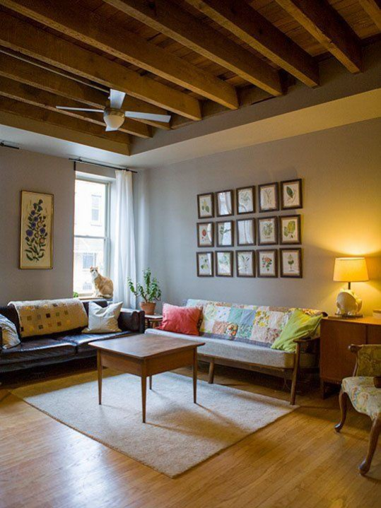 How to de-clutter your interior this January: The KonMari method - items that don't spark joy don't have a place in your home. Left with fewer items that we love our homes are easier to then organise and keep minimalistic and clutter free. Image via www.apartmenttherapy.com