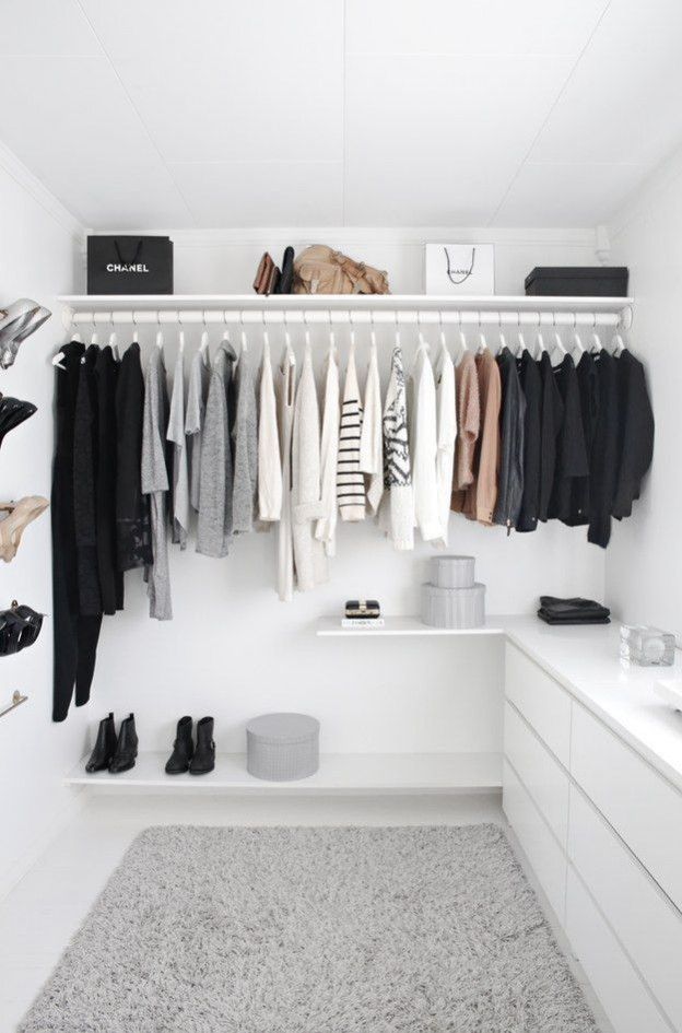 How to de-clutter your interior this January: The KonMari method, starting with your wardrobe and clothes - the order of tidying your home is important, image via www.mydomaine.com