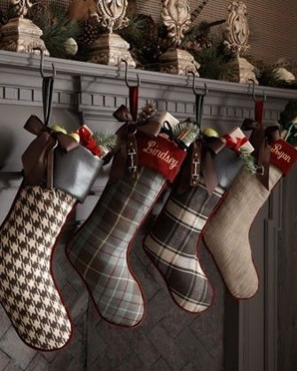NDA's Crafting at Christmas: How-to Christmas Crafts: A handmade Christmas stocking is the perfect item decoration a fireplace to add a festive touch.