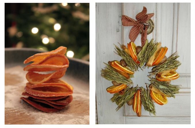 NDA's Crafting at Christmas: How-to Christmas Crafts: handmade wreaths made from dried orange slices are the perfect items to decorate the home and give off a festive scent.