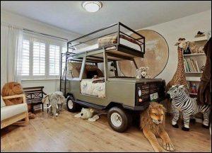 childrens safari themed bedroom interior design