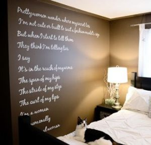wall art typography