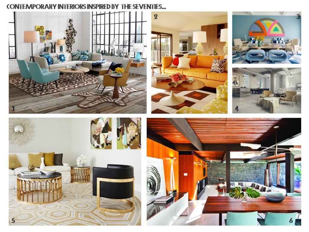 contemporary 1970s interior design