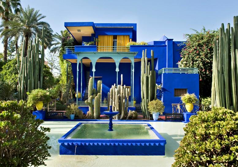 The Majorelle Gardens in Majorelle blue