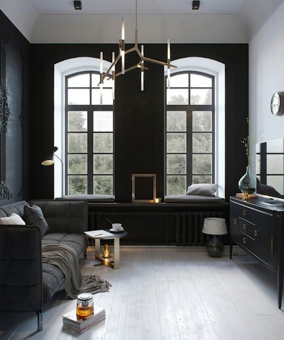 The Rise of Dark Furniture and Finishes in 2017 - Intimidating Interiors - Vol. 2