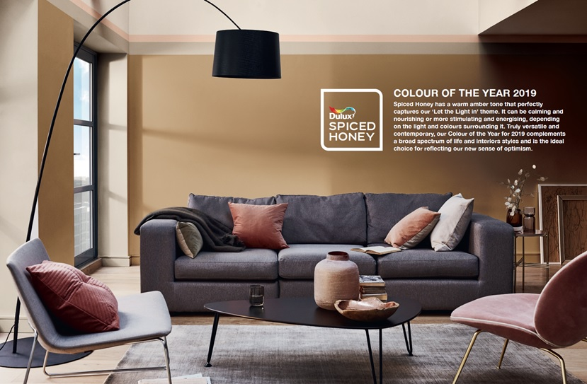 Dulux Colour of the Year 2019: Spiced Honey