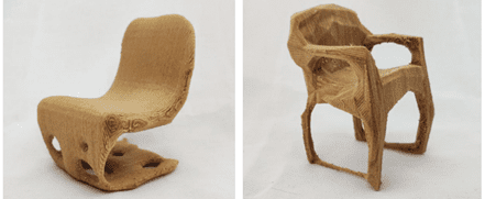 AI designed and 3D printed chair