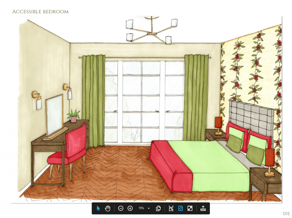 Boutique Hotel accessible bedroom