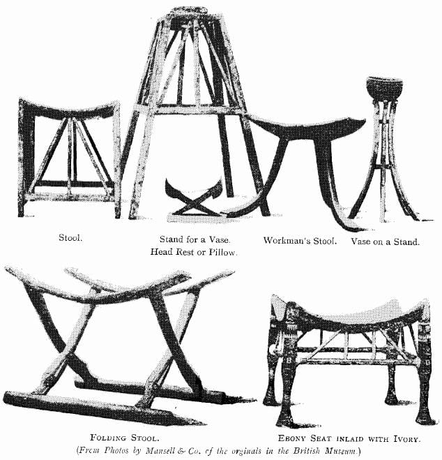 Examples of Egyptian Furniture from the British Museum