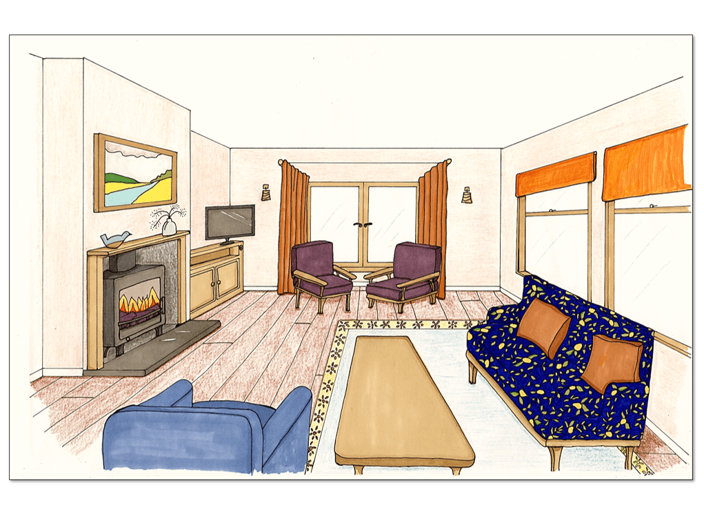 Loscombe Down Living Room