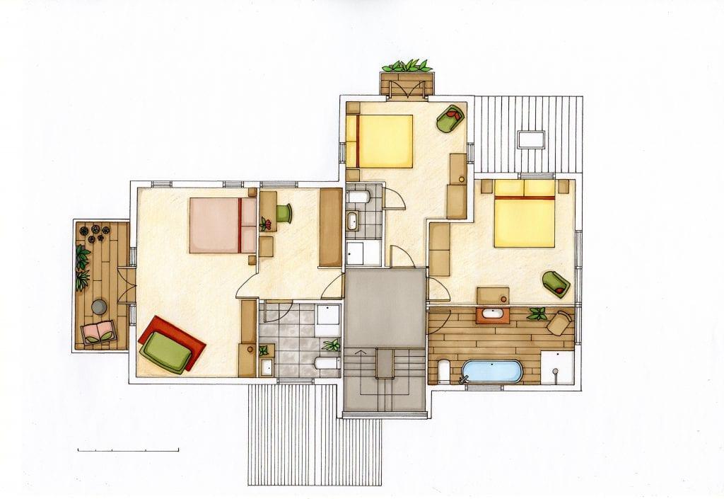 Loscombe Down floor 3 rendered floor plan