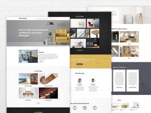 Wordpress interior design portfolio template