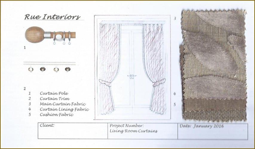 Caroline Wright work - Diploma Professional Curtain Making - National Design Academy