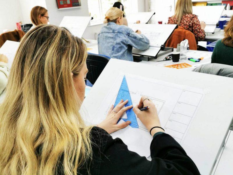 Student at design school