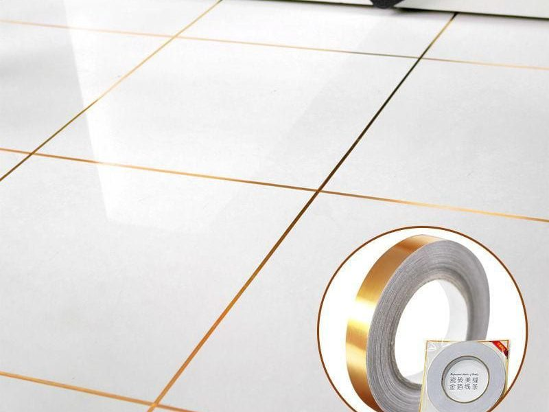 Brass Adhesive tile grout