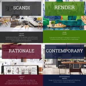 become an interior designer glossary