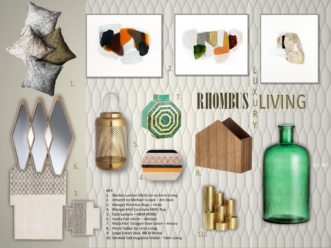 interior design board rhombus living